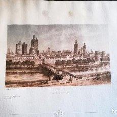 Art: CROMOLITOGRAFÌA DE - VISTA DE VALENCIA CA 1985 - LLITOGRAF PAR DEROY - TAMAÑO 57,5 X 32 CMS. Lote 153143574