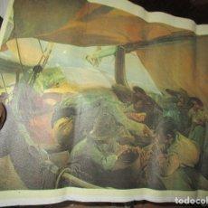 Arte: COMIENDO EN BARCA MUSEO SOROLLA CROMOLITOGRAFIA ANTIGUA EN TELA IMPRIME J.S. . Lote 154129886