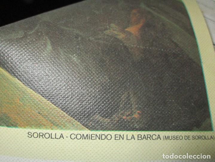 Arte: COMIENDO EN BARCA MUSEO SOROLLA CROMOLITOGRAFIA ANTIGUA EN lienzo IMPRIME J.S. - Foto 5 - 154129886