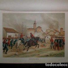 Arte: J. ALAMINOS: RENDICION DE BERGA. 1893. CROMOLITOGRAFIA - CARLISMO. Lote 162076486