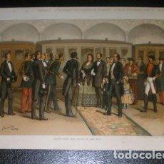 Arte: J. ALAMINOS: ISABEL II 'CREIA TENER MAS RAICES EN ESTE PAIS' 1893. CROMOLITOGRAFIA - CARLISMO. Lote 162080794