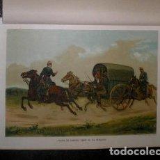 Arte: J. ALAMINOS: ¡FUERA DE CAMINO, TODO SE HA PERDIDO! GENERAL ORTEGA. 1893. CROMOLITOGRAFIA - CARLISMO . Lote 162093522