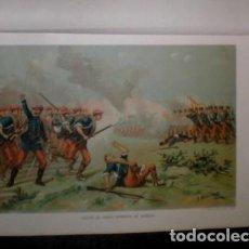 Arte: J. ALAMINOS: ACCION DE SANTA BARBARA DE MAÑERU (NAVARRA). 1893. CROMOLITOGRAFIA - CARLISMO . Lote 162096426
