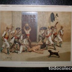 Arte: J. ALAMINOS: MUERTE DEL ALCALDE DE ALCOY DON AGUSTIN ALBORS. 1893. CROMOLITOGRAFIA - CARLISMO . Lote 162097238