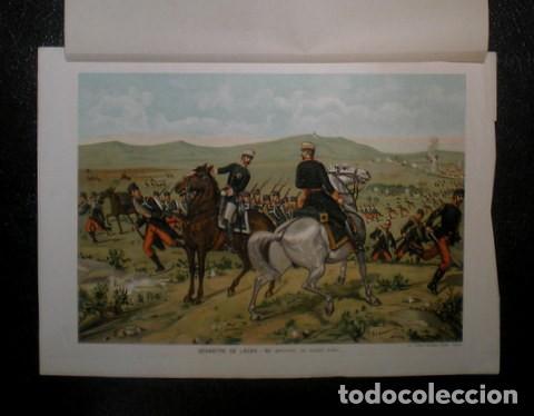 J. ALAMINOS: DESASTRE DE LACAR - ¡MI GENERAL, ES INÚTIL TODO... 1893. CROMOLITOGRAFIA - CARLISMO (Arte - Cromolitografía)