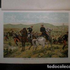 Arte: J. ALAMINOS: DESASTRE DE LACAR - ¡MI GENERAL, ES INÚTIL TODO... 1893. CROMOLITOGRAFIA - CARLISMO . Lote 162100814