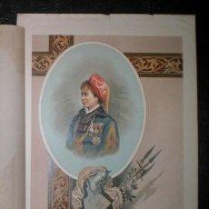 Arte: MARIA DE LAS NIEVES DE BORBON. 1893. CROMOLITOGRAFIA - CARLISMO . Lote 162103346