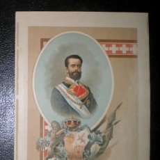 Arte: AMADEO I. 1893. CROMOLITOGRAFIA - CARLISMO . Lote 162104102