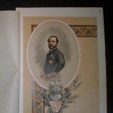 Arte: PRIM, MARQUÉS DE LOS CASTILLEJOS, CONDE DE REUS. 1893. CROMOLITOGRAFIA - CARLISMO . Lote 162114482