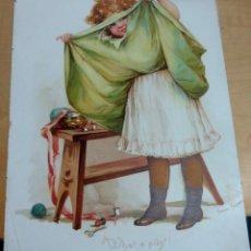Arte: CROMOLITOGRAFÍA INFANTIL INGLESA SIGLO XIX. Lote 165503278