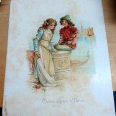 Arte: CROMOLITOGRAFÍA INFANTIL INGLESA SIGLO XIX. Lote 165503446