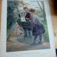 Arte: CROMOLITOGRAFÍA INFANTIL INGLESA SIGLO XIX. Lote 165503550