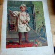 Arte: CROMOLITOGRAFÍA INFANTIL INGLESA SIGLO XIX. Lote 165503626