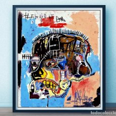 Arte: POSTER JEAN MICHEL BASQUIAT - HEAD GICLEE - CANVAS PRINT PAINTINGS POSTER REPRODUCTION 65 X55,5 CMS . Lote 168979032