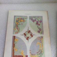 Arte: CROMOLITOGRAFIA LAMINA MODERNISTA JULIUS HOFFMANN DEKORATIVE VORBILDER 1904. Lote 169174364