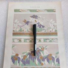 Arte: CROMOLITOGRAFIA LAMINA MODERNISTA ORNAMENTOS JULIUS HOFFMANN DEKORATIVE VORBILDER 1904. Lote 169175864