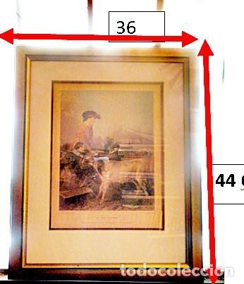 GRABADO: EN EL CAMPO - IN THE PASTURE .POR COUSEN SCULP Y R.ANSDELL A.R.A PINK. (Arte - Cromolitografía)