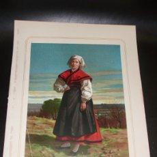 Arte: PONTEVEDRA - CROMOLITOGRAFÍA TRAJE REGIONAL - AÑO 1873. Lote 124439696