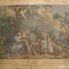 Arte: LES AMOURS DU BOCAGE - NICOLAS DE LARMESSIN - OBRA NICOLAS LANCRET 16X10CM. Lote 173482012