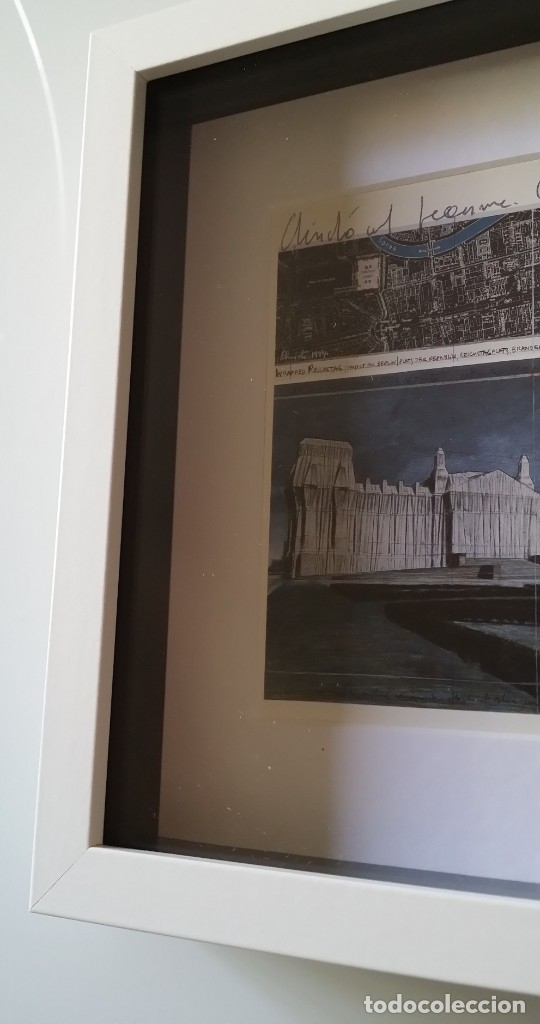 Arte: CHRISTO JAVACHEFF: Wrapped REICHSTAG,1995 / IMPRESIÓN EN LIENZO y montaje COLLAGE, firmado - Foto 9 - 48935665