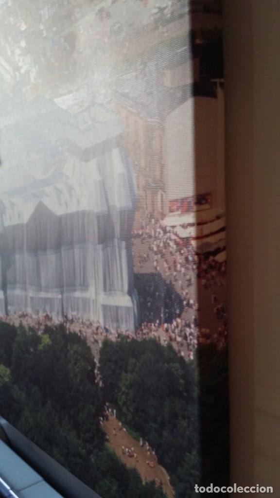 Arte: CHRISTO JAVACHEFF: Wrapped REICHSTAG,1995 / IMPRESIÓN EN LIENZO y montaje COLLAGE, firmado - Foto 15 - 48935665