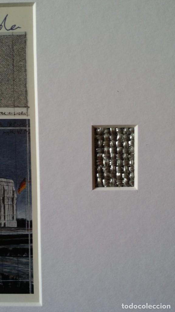 Arte: CHRISTO JAVACHEFF: Wrapped REICHSTAG,1995 / IMPRESIÓN EN LIENZO y montaje COLLAGE, firmado - Foto 12 - 48935665