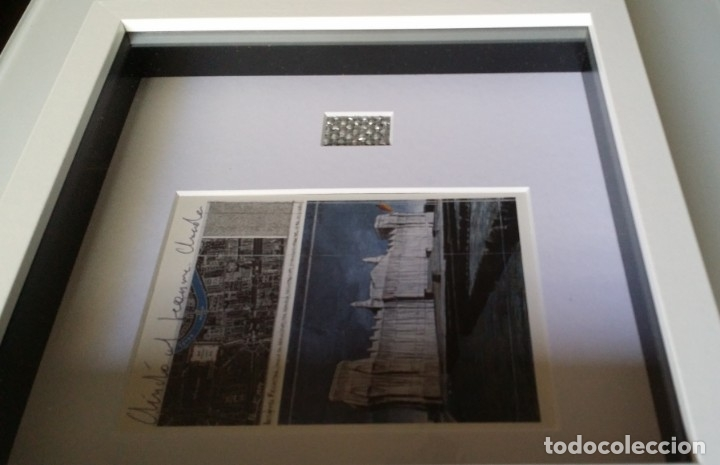 Arte: CHRISTO JAVACHEFF: Wrapped REICHSTAG,1995 / IMPRESIÓN EN LIENZO y montaje COLLAGE, firmado - Foto 13 - 48935665