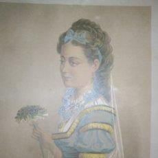 Arte: LIQUIDACIÓN TOTAL! CROMOLITOGRAFÍA ORIGINAL, ANTIGÜEDADES, 1875 . FRANCIA. Lote 173925349