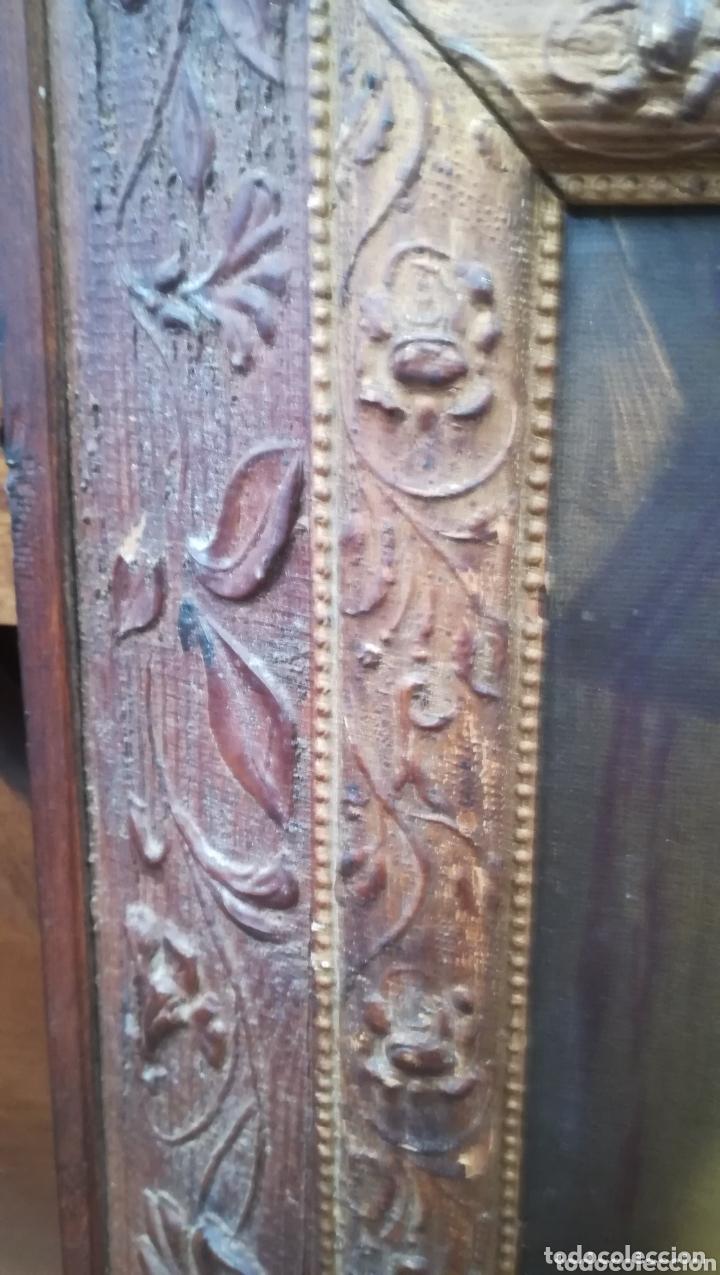 Arte: Antigua cromo litografíada en marco de época - Foto 4 - 174253957