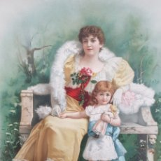 Arte: ROMANTICISMO (XIX-XX) - LITOGRAFÍA SUIZA K.F.Z.N°1469.. Lote 174184885