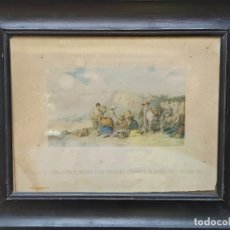 Arte: FRANCISCO MITJANA MÁLAGA ENSAYO PRIMERA CROMOLITOGRAFÍA ESPAÑOLA 1861. Lote 175041454