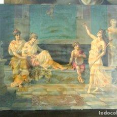 Art: GRAN LAMINA LITOGRAFICA ANTIGUA AÑO 1900 - ROMA - MESALINA BRITANICO JULIA LIVILA AGRIPINA LA MENOR. Lote 175068279