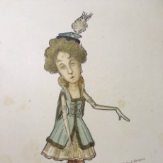 Arte: RUSSIAN BALLET - CARICATURA DE BAILARINA RUSA M. KONETSKAJA POR N. LEGAT - CIRCA 1902-1905 - RUSO. Lote 175451654