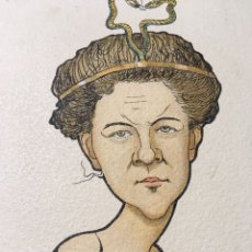 Arte: RUSSIAN BALLET - CARICATURA DE BAILARINA RUSA E. KOUSKOWA POR N. LEGAT - CIRCA 1902-1905 - RUSO. Lote 175452865