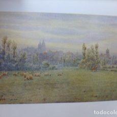 Arte: LEON VISTA DE LA CIUDAD CROMOLITOGRAFIA 1905 POR ARTISTA INGLES WIGRAM. Lote 176047652