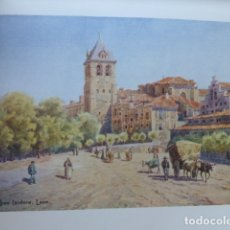 Arte: LEON SAN ISIDORO CROMOLITOGRAFIA 1905 POR ARTISTA INGLES WIGRAM. Lote 176047664