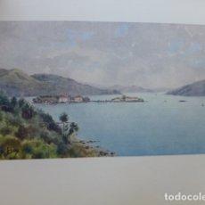 Art: VIGO PONTEVEDRA VISTA DE LA BAHIA CROMOLITOGRAFIA 1905 POR ARTISTA INGLES WIGRAM. Lote 176047753