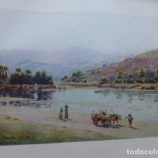 Arte: NAVIA ASTURIAS VALLE DEL NAVIA CROMOLITOGRAFIA 1905 POR ARTISTA INGLES WIGRAM. Lote 176047843