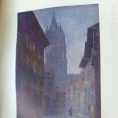 Arte: OVIEDO ASTURIAS CALLE Y CATEDRAL CROMOLITOGRAFIA 1905 POR ARTISTA INGLES WIGRAM. Lote 176047882