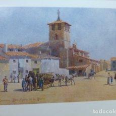 Arte: ZAMORA IGLESIA DE SANTA MARIA DE LA HORTA CROMOLITOGRAFIA 1905 POR ARTISTA INGLES WIGRAM. Lote 176047968