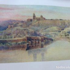 Arte: TORO ZAMORA VISTA DESDE EL DUERO CROMOLITOGRAFIA 1905 POR ARTISTA INGLES WIGRAM. Lote 176047997