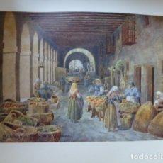 Arte: SALAMANCA SOPORTALES DE LA PLAZA DE LA VERDURA CROMOLITOGRAFIA 1905 POR ARTISTA INGLES WIGRAM. Lote 176048010