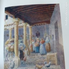Arte: AVILA PATIO DE UNA POSADA CROMOLITOGRAFIA 1905 POR ARTISTA INGLES WIGRAM. Lote 176048140