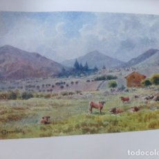 Arte: SAN LORENZO DEL ESCORIAL MADRID VISTA CROMOLITOGRAFIA 1905 POR ARTISTA INGLES WIGRAM. Lote 176048164