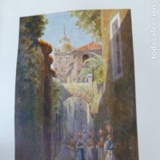 Arte: CACERES UNA CALLE CROMOLITOGRAFIA 1905 POR ARTISTA INGLES WIGRAM. Lote 176048385