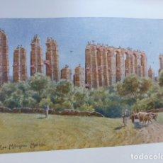 Arte: MERIDA BADAJOZ ACUEDUCTO ROMANO DE LOS MILAGROS CROMOLITOGRAFIA 1905 POR ARTISTA INGLES WIGRAM. Lote 176048442