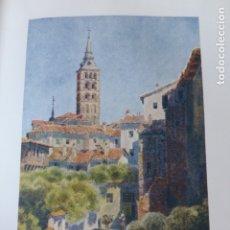 Arte: SEGOVIA IGLESIA DE SAN ESTEBAN CROMOLITOGRAFIA 1905 POR ARTISTA INGLES WIGRAM. Lote 176048583