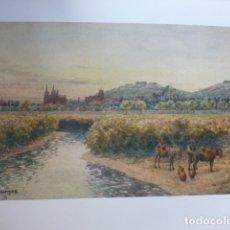 Arte: BURGOS VISTA DESDE EL ESTE CROMOLITOGRAFIA 1905 POR ARTISTA INGLES WIGRAM. Lote 176048773
