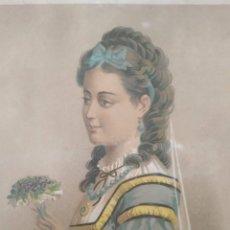 Arte: CROMOLITOGRAFÍA ORIGINAL, ANTIGÜEDADES, 1875 . HINDERMANN Y SIEBERMANN FRANCIA. Lote 176588718