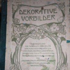 Arte: CROMOLITOGRAFIA DEKORATIVE VORBILDER JULIUS HOFFMANN VERLAG 6 LÁMINAS UNA DOBLE ÚNICAS. Lote 177965349
